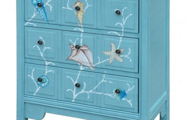 Coral Reef 3-Drawer Chest Aqua