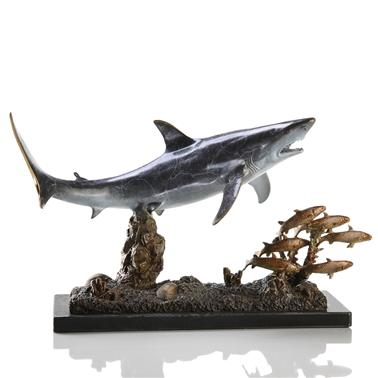 Brass Shark with Prey