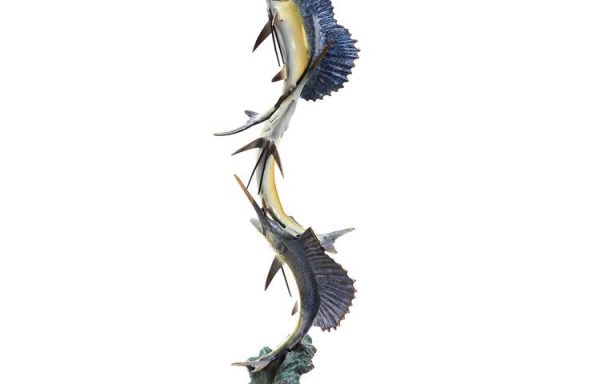 Brass Marlin and Sailfish Seascape