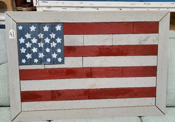 Wood Cut Flag